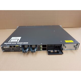 Cisco WS-C3750X-48T-L 3750X Switch C3KX-PWR-715WAC Netzteil C3KX-NM-1G Modul