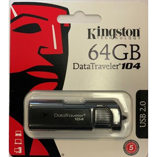 Kingston USB-Stick DataTraveler 104 USB2.0 64 GB